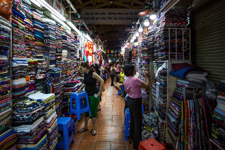 fabric market saigon vietnam