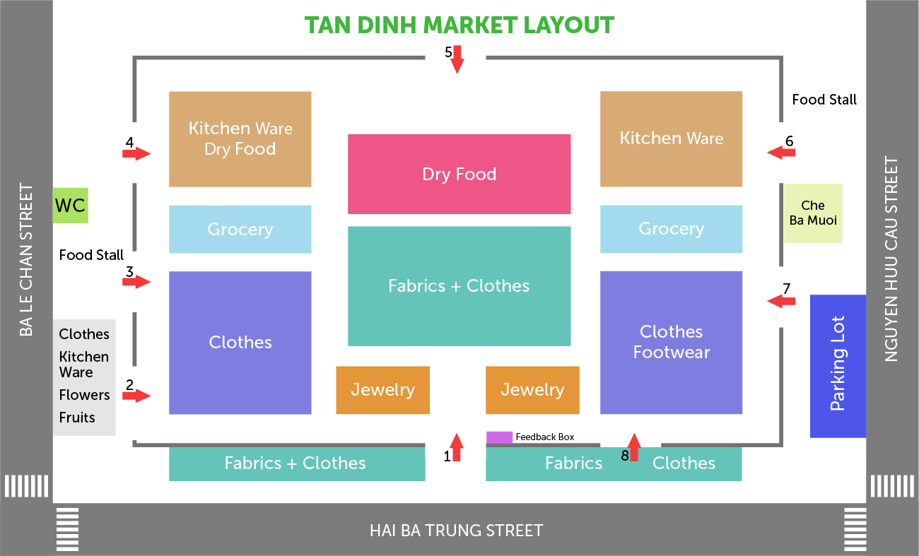 tan dinh market map