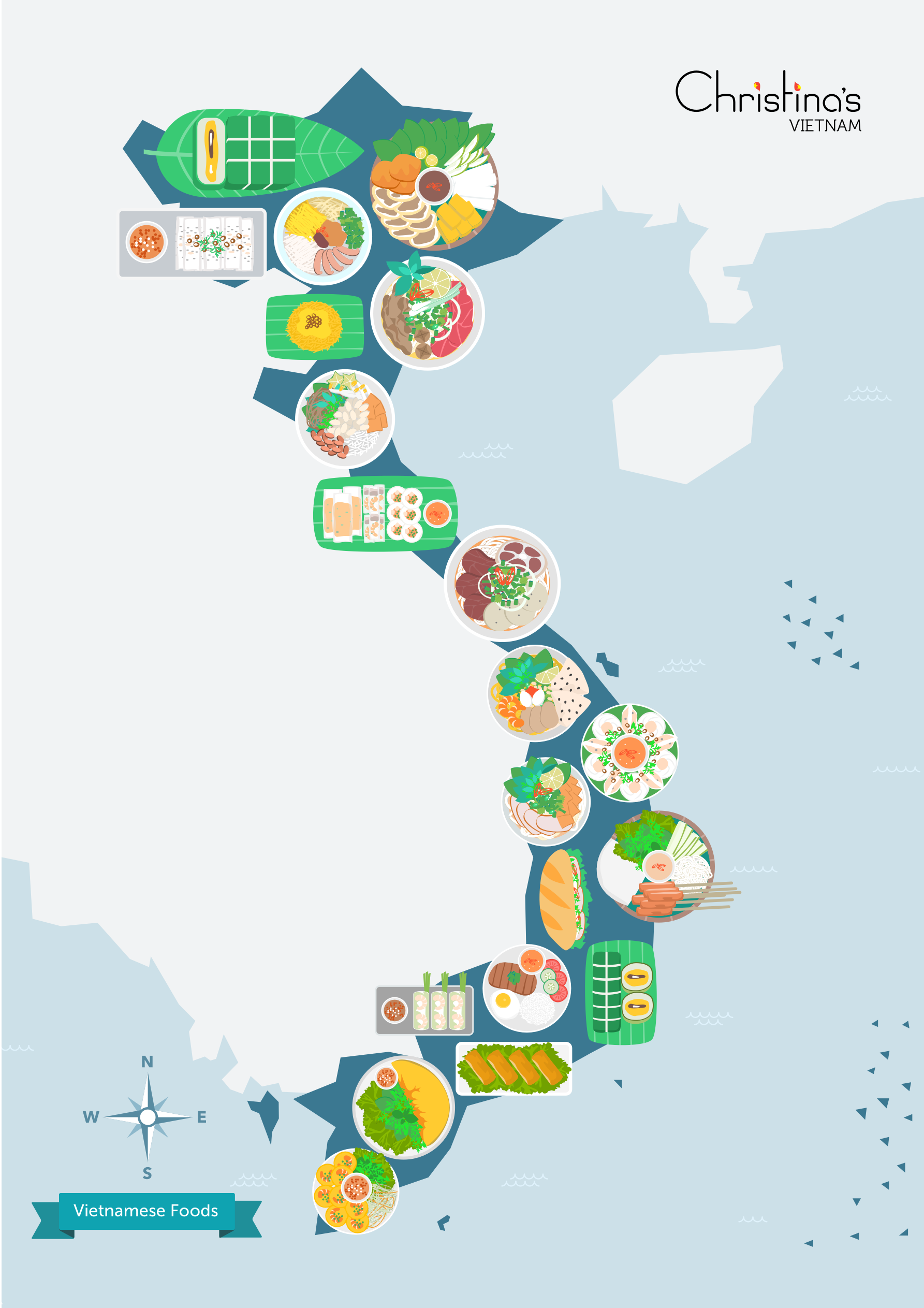 North Vietnam And South Vietnam Map.Regional Differences In Vietnamese Cuisine North Central And