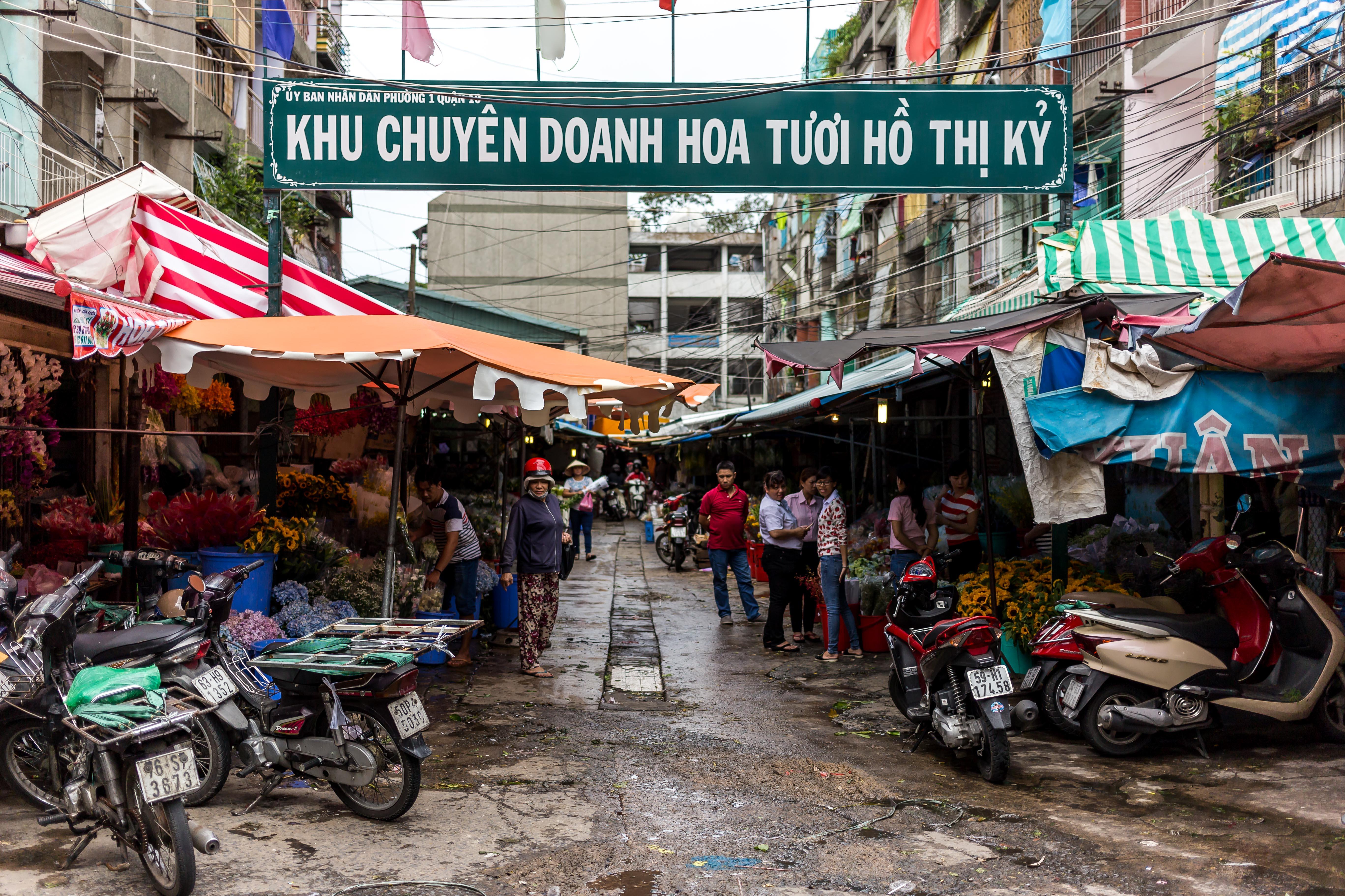 Ho Thi Ky Flower Market saigon flower market